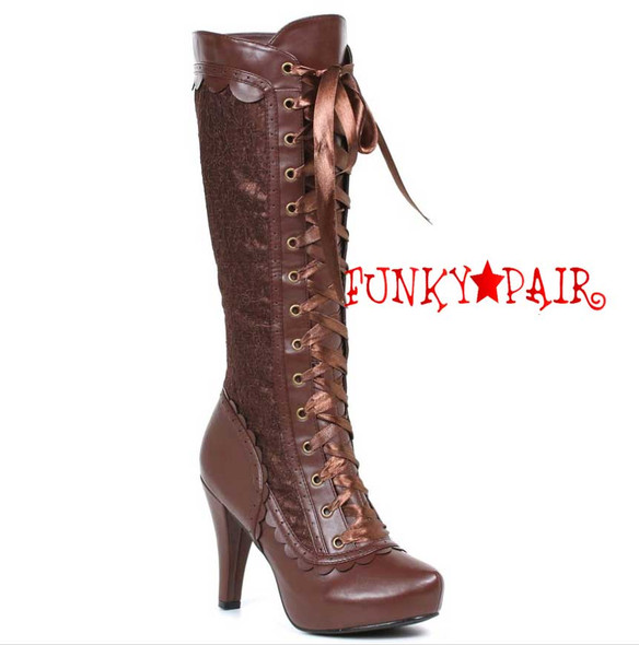 """1031 Shoes   414-Mary 4"""" Lace Knee High Boots"""