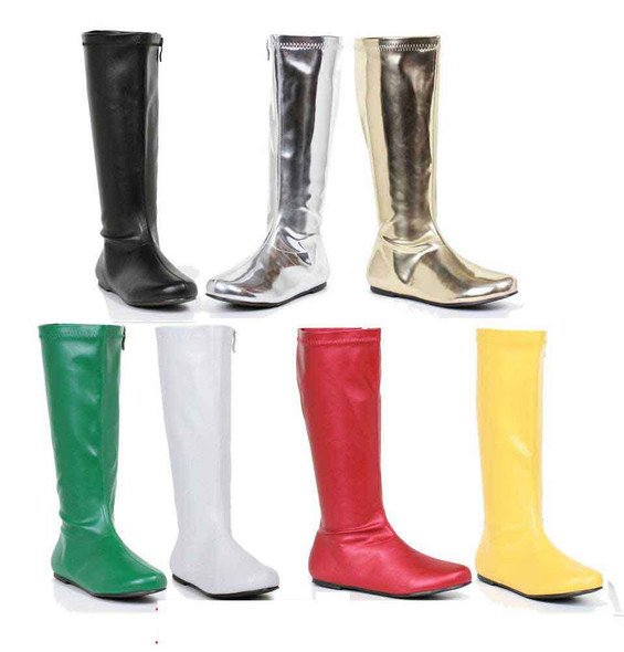 "106-Avenge 1"" Flat Knee High Boots 1031 Shoes"