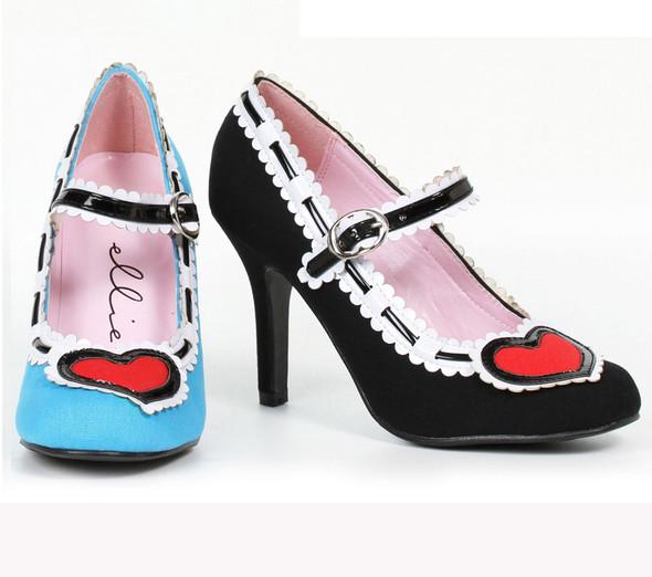 4 inch heel maryjane pump with heart design