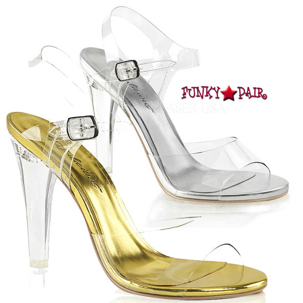 "Fabulicious | Clearly-408, 4.5"" Heel Clear Evening Sandal"
