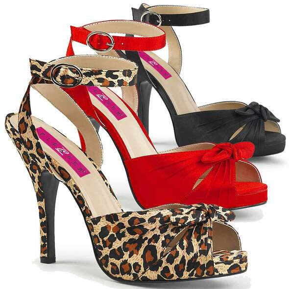 """Eve-01, 5"""" Heel Ankle Wrap Sandal Pink Label"""