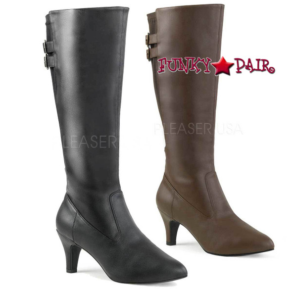 Pink Label | Divine-2018, 3 Inch Heel Knee High Boots Size 9-16