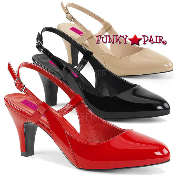 Pink Label | Divine-418, Slingback Pump Plus Size 9-16