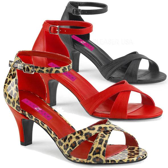 """Divine-435, 3"""" Heel Ankle Strap Pink Label"""
