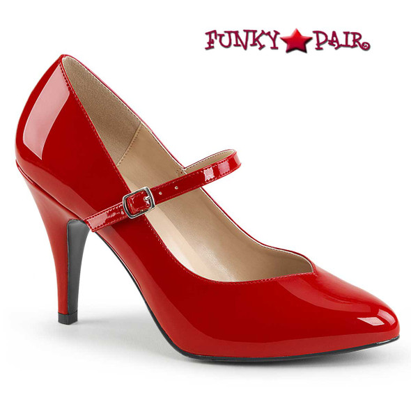 Pink Label | Dream-428 Crossdresser Shoes Plus Size color red