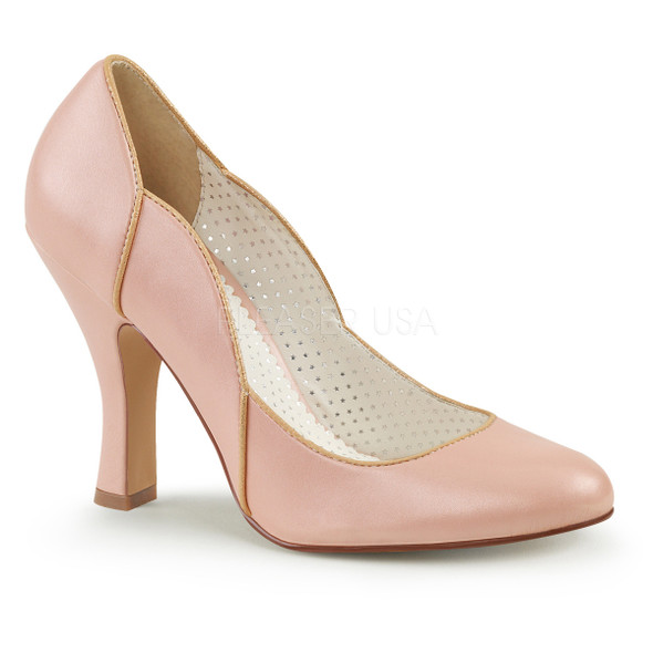Smitten-04, 4 Inch Pump with Wavy Trim