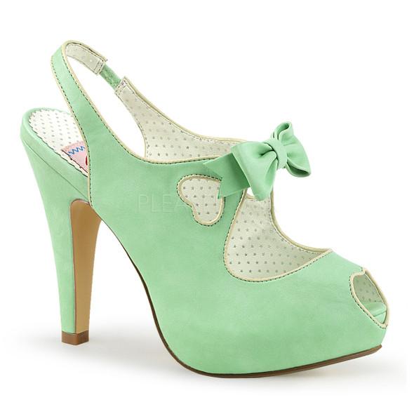 Bettie-03, 4.5 Inch Peep Toe Slingback Sandal