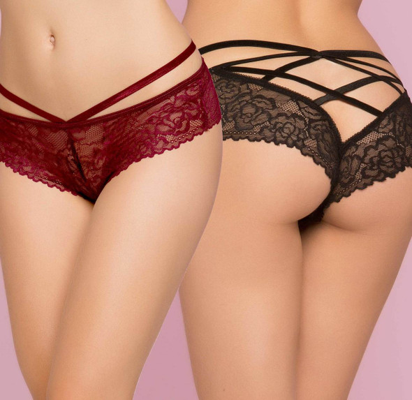 STM-10785, Rose Galloon Lace Panty - Bralette not included