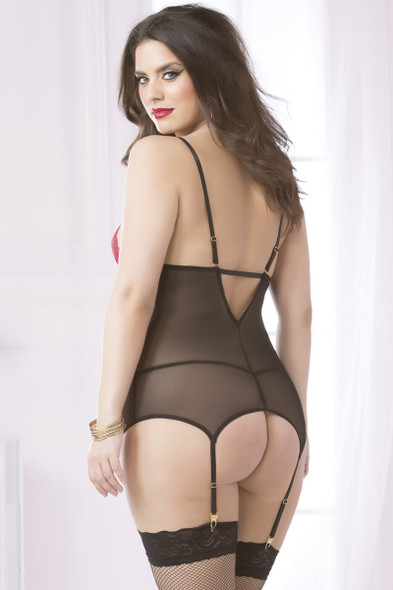 STM-10597X, Lace and Mesh Cami Set