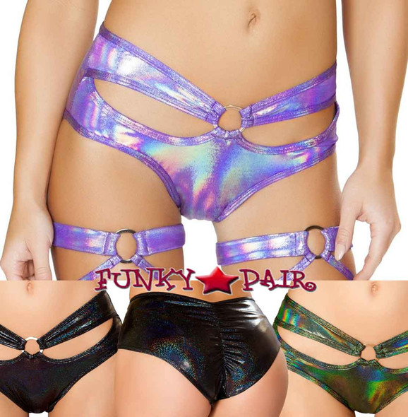 Roma | R-3467, Rave Cutout Shorts On Sale $27.95 color available: Lavender, Black, Green