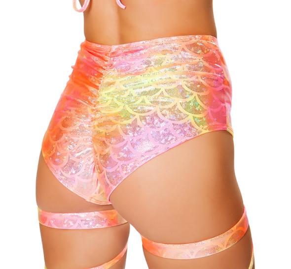 R-3455, High Waisted Shorts