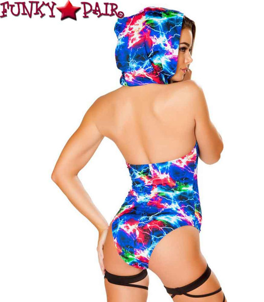 Roma | R- 3415, Rave Electric Hooded Romper back view