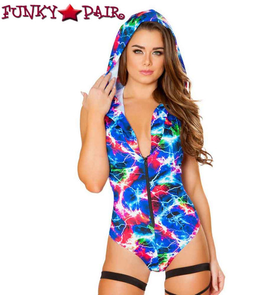 Roma | R- 3415, Rave Electric Hooded Romper