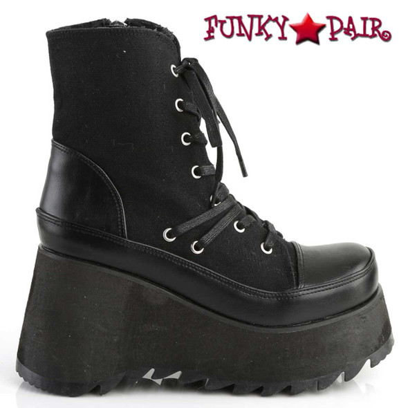 Demonia | Scene-50, Gothic Vegan Platform Ankle Boots