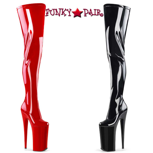 "Pleaser | Beyond-4000, 10"" Fetish Heel Thigh High Boots"