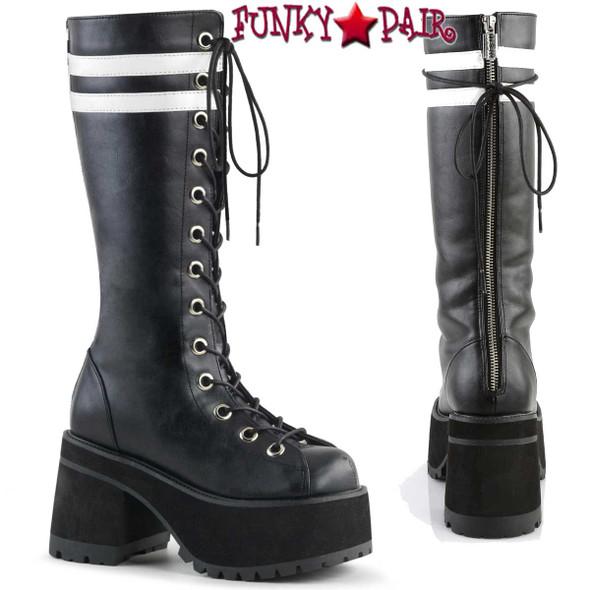 Demonia | Men Ranger-320, Platform Knee High Boots