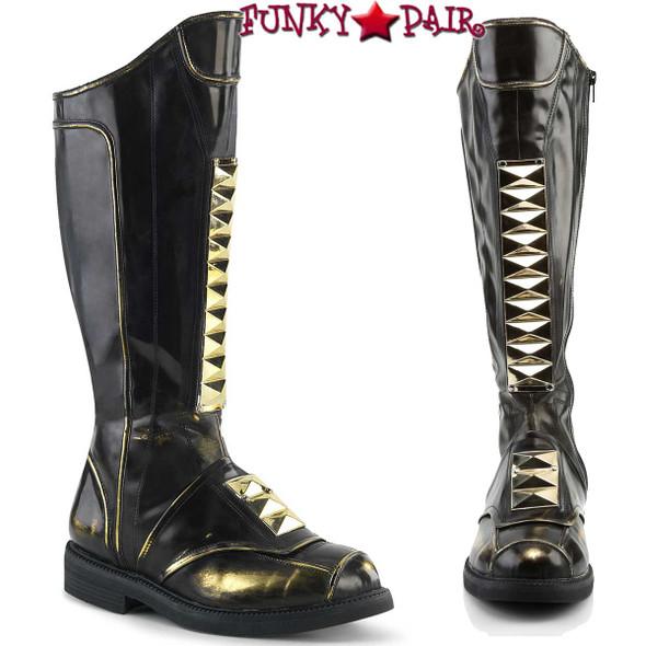 Funtasma | Captain-115, Men Stack Heel Knee High Boots