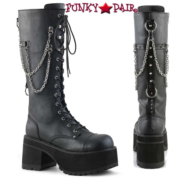 Demonia Men's Ranger-303, Punk Rock Chains & Studded Boots