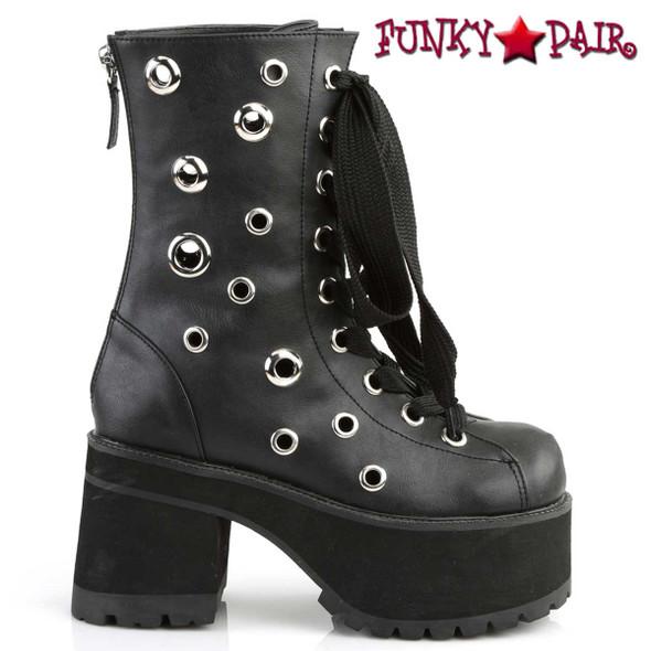 Demonia | Ranger-310, Gothic Eyelets Ankle Boots
