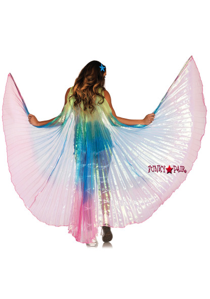 A2805, Pleated Halter Wings