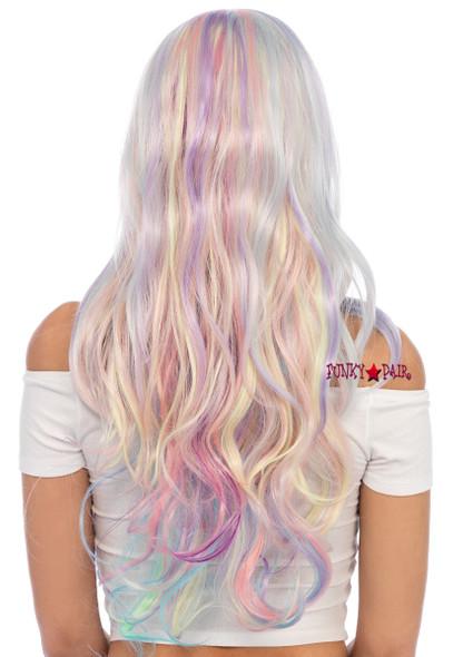 A1532, Pastel Rainbow Long Wavy Wig