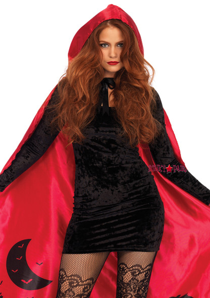 A2801, Satin Red Cape