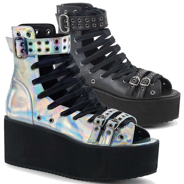 Gothic Vegan Leather Sandal Demonia Shoes Grip-105