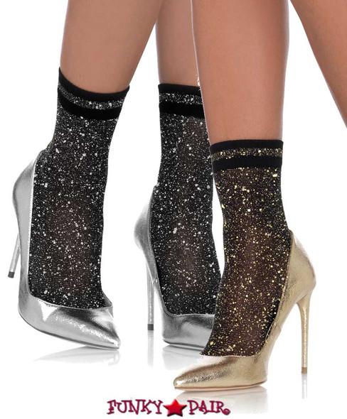 LA3041, Lurex Shimmer Anklets