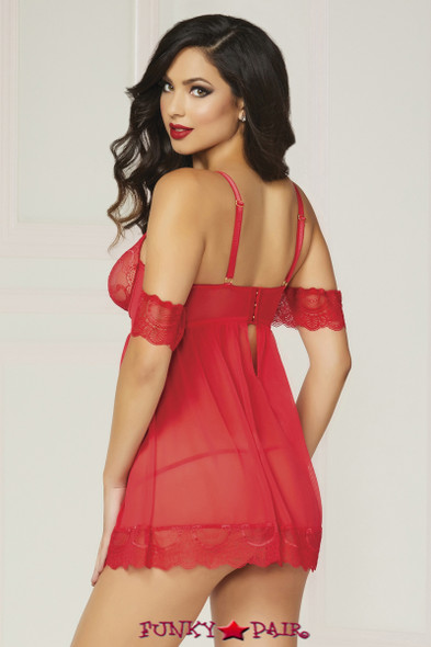 STM-10829, Underwire Cup Babydoll Set