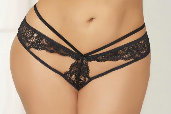 STM-10835X, Lace Open Crotch Panty