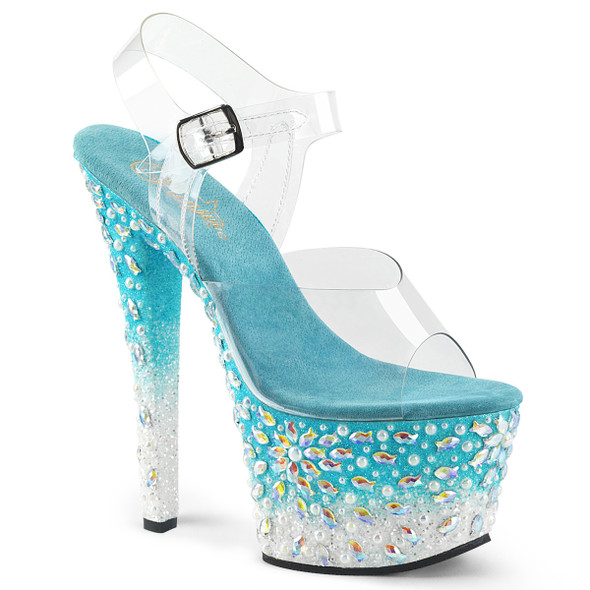 Platform Sandal with Fish Design on Platform Pleaser Shoes Sky-308FISH,