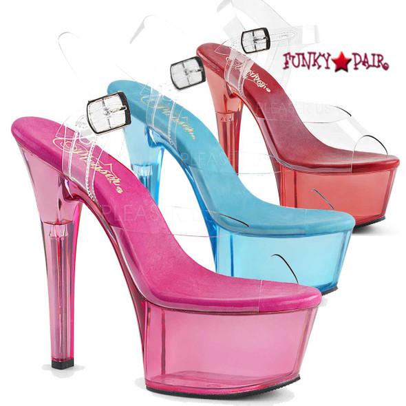 Pleaser Shoes Aspire-608T, Tint Platform Sandal