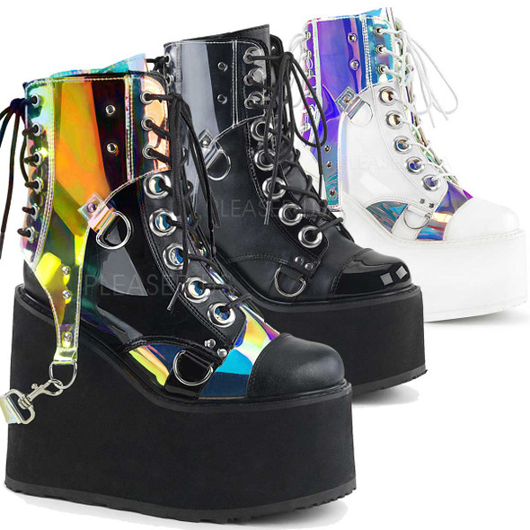 Demonia Boots |Swing-115, Wedge Platform Ankle Boots