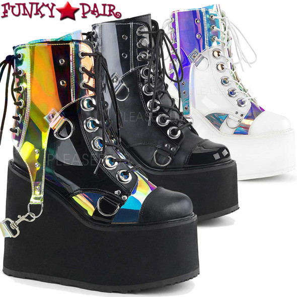 Rave Boots |Swing-115, Wedge Platform Ankle Boots