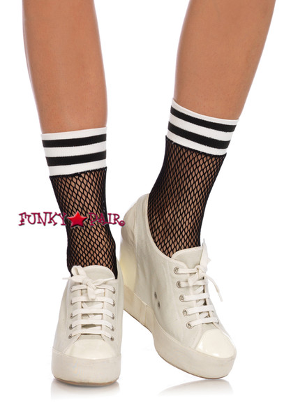 LA3045, Fishnet Athletic Anklets