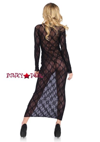 LA86401, Bow Lace Long Dress