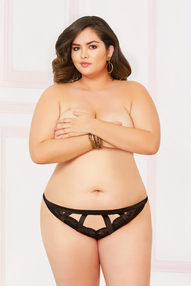 STM-10906X, Wide Elastic Straps Thong