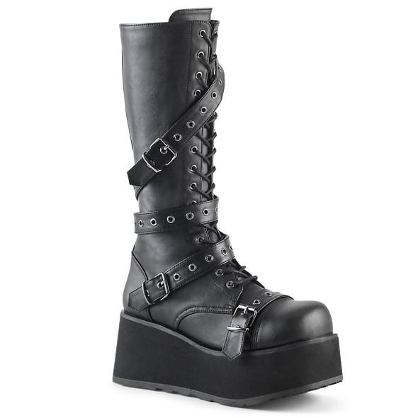 Trashville-520, Gothic Punk Platform Knee High Boots Demonia   Men