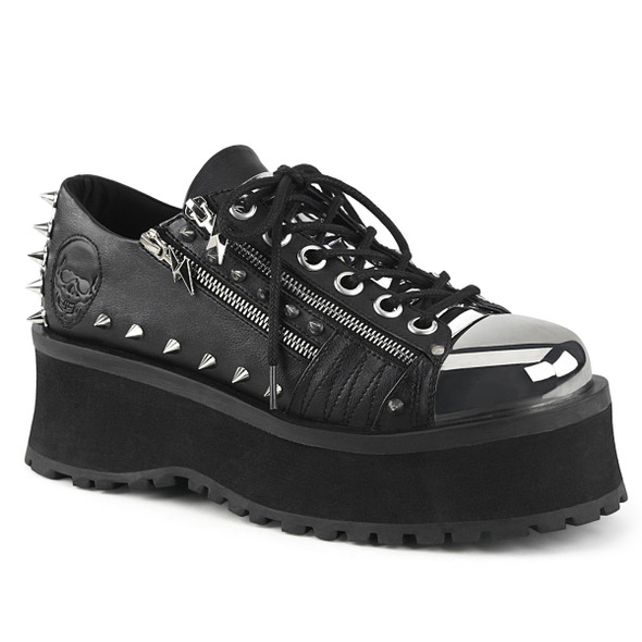 Demonia | Men Gravedigger-04, Gothic Spike Oxford