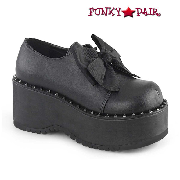 Demonia Shoes  Dolly-05, Platform Oxford with Pyramid Stud
