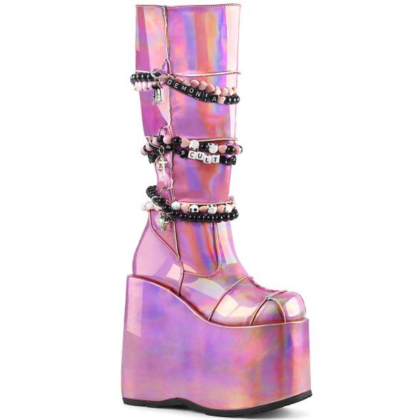 Demonia Slay-301, Gothic Punk Patch Design Boots