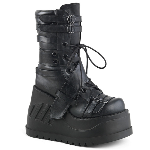 Demonia Stomp-26, Wedges Mid-Calf Platform Boots