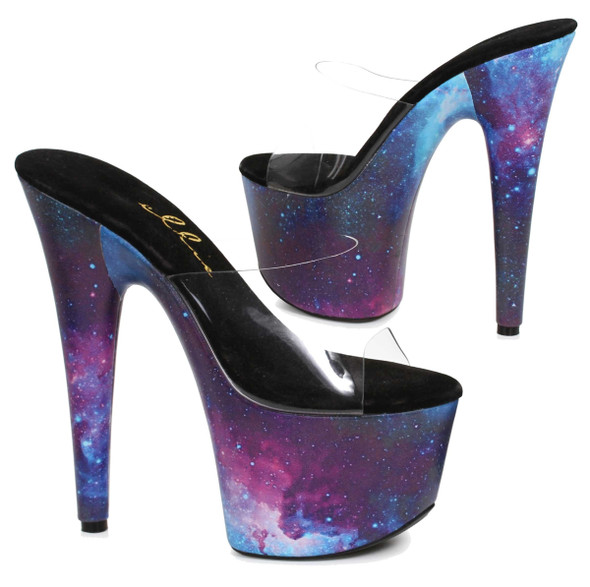 "Ellie Shoes | 709-Galaxy 7"" Cosmo Print Shoes"