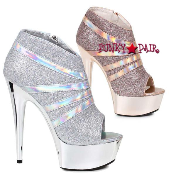Ellie Shoes | 609-Kiki 6 Inch Peep Toe Bootie