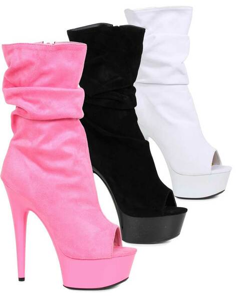"Ellie Shoes | 609-Scrunch 6"" Scrunch Ankle Boots"