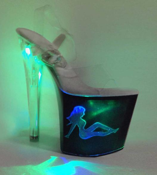 "Ellie Shoes | 821-Tessa 8"" Stripper Ligh up Truckgirl Platform"