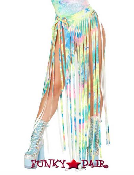 J. Valentine | Fringe Skirt Rave Wear JV-FF194 Color Multi Tie-Die One Size