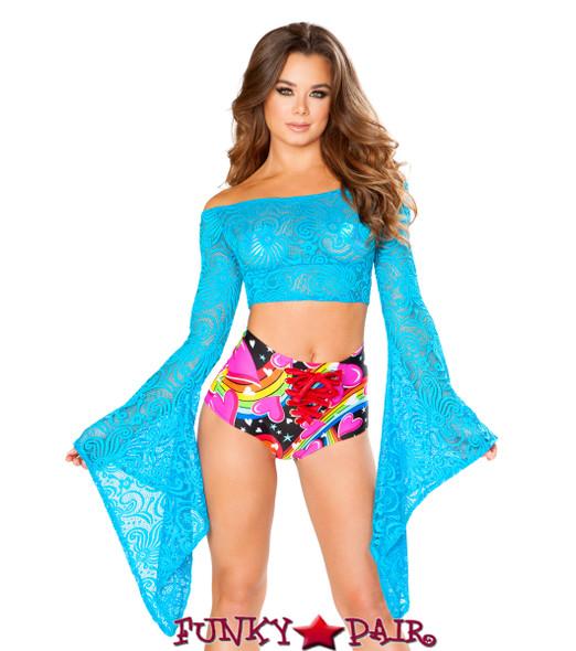 J Valentine | Lace Gypsy Top Rave Wear JV-FF114