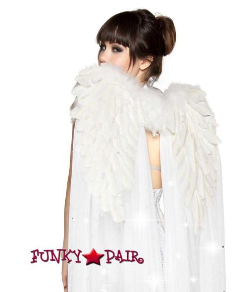 White Angel Wing with Rhinestones Roma Costume | R-4356