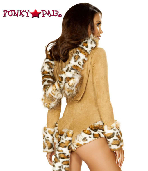 Roma | R-4874, Leopard Princess Romper Costume back view